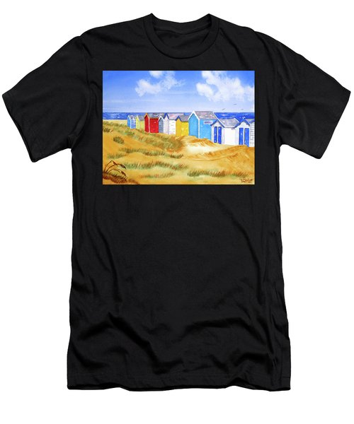 Beach Huts Men's T-Shirt (Athletic Fit)