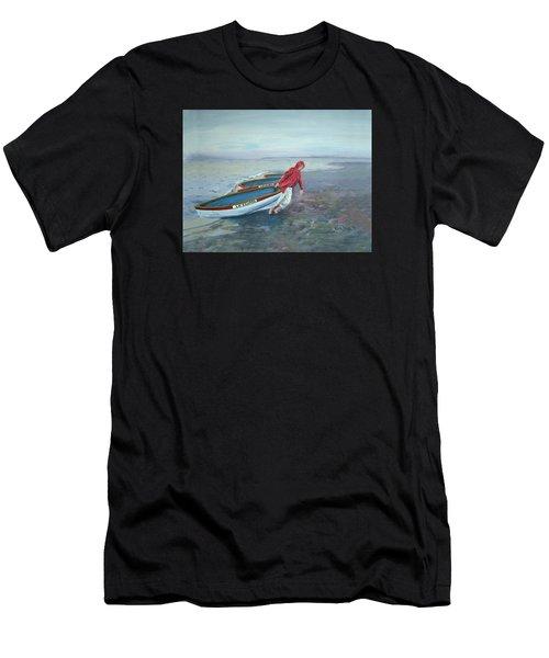 Beach Lifeguard Men's T-Shirt (Athletic Fit)