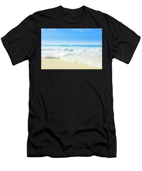 Men's T-Shirt (Athletic Fit) featuring the photograph Beach Love Summer Sanctuary by Sharon Mau