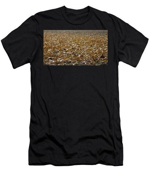 Beach Of Autumn Leaves Men's T-Shirt (Athletic Fit)