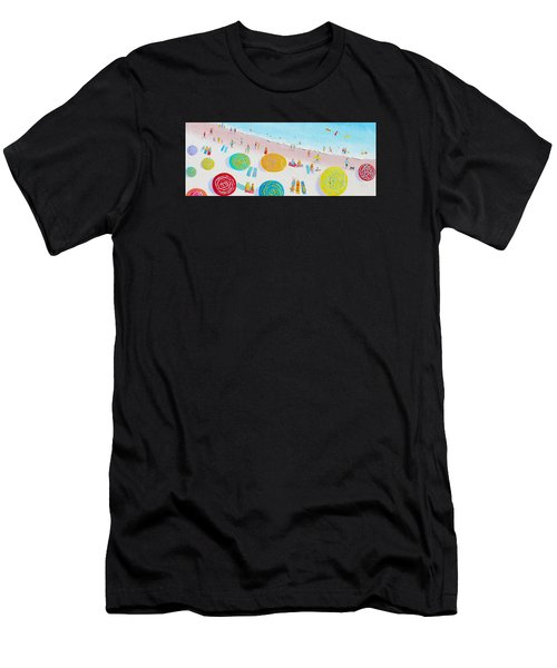 Beach Painting - The Simple Life Men's T-Shirt (Athletic Fit)