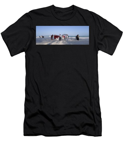 Beach Panoramic Wedding  Men's T-Shirt (Athletic Fit)