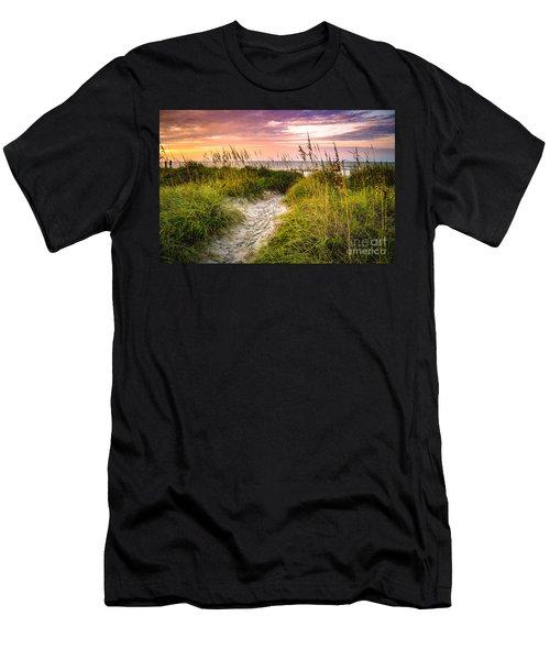 Beach Path Sunrise Men's T-Shirt (Athletic Fit)