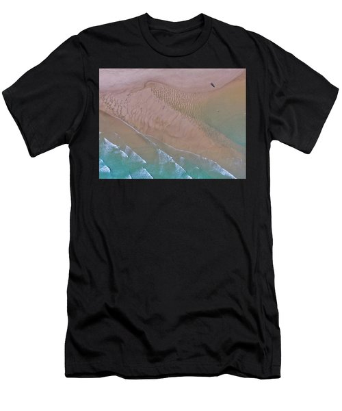 Beach Patterns At North Point On Moreton Island Men's T-Shirt (Athletic Fit)