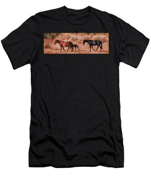 Beach Ponies - Wild Horses In The Dunes Men's T-Shirt (Athletic Fit)