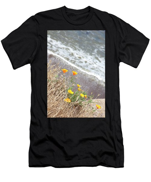 Beach Poppies Men's T-Shirt (Athletic Fit)
