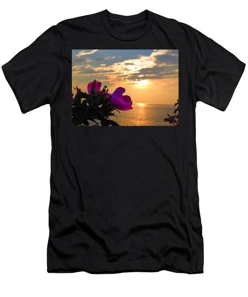 Beach Roses Men's T-Shirt (Athletic Fit)