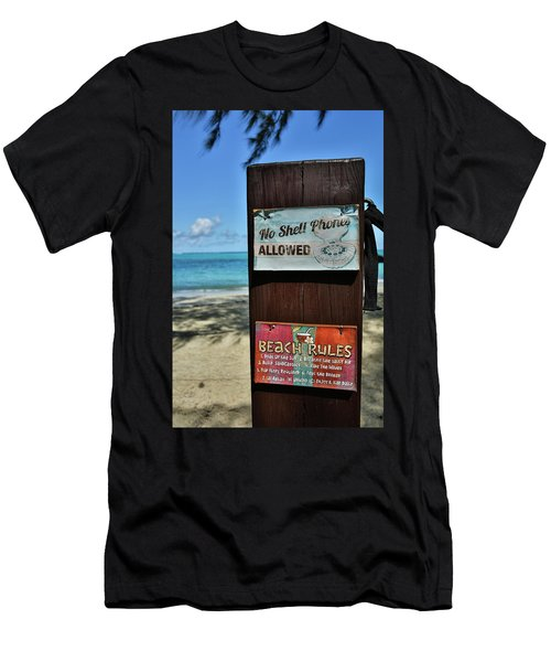 Beach Rules Men's T-Shirt (Athletic Fit)