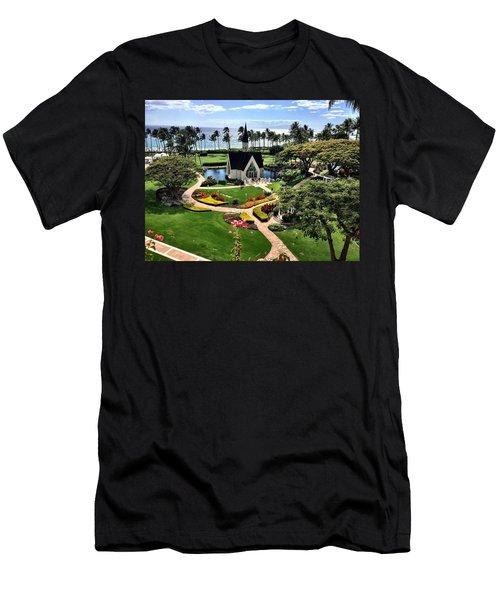 Beach Steeple Men's T-Shirt (Athletic Fit)