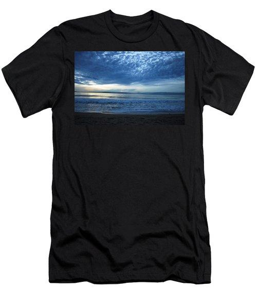 Beach Sunset - Blue Clouds Men's T-Shirt (Athletic Fit)