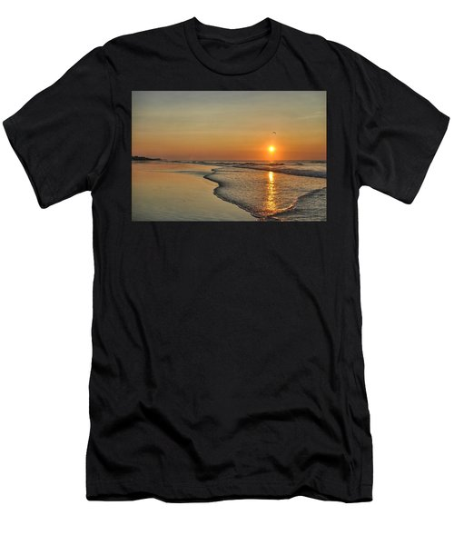 Topsail Nc Beach Sunrise Men's T-Shirt (Athletic Fit)