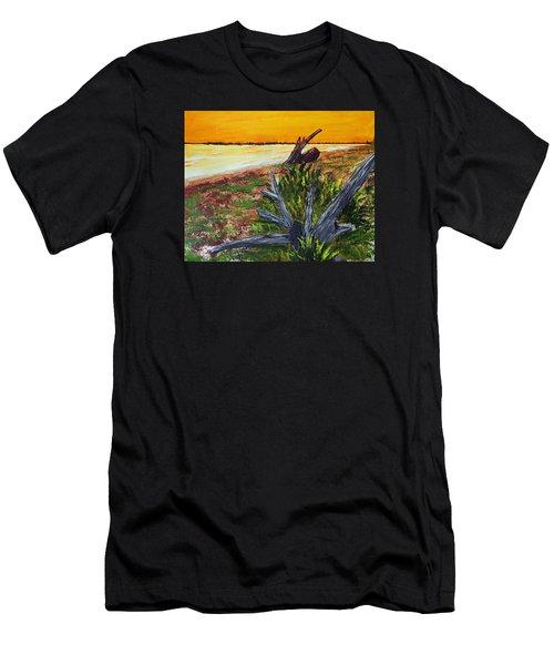 Beach Sunset Men's T-Shirt (Athletic Fit)