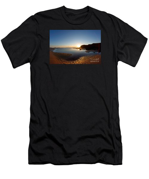 Beach Textures Men's T-Shirt (Athletic Fit)