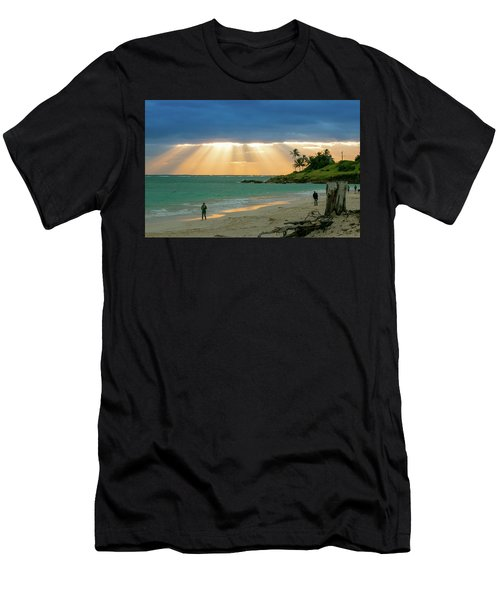 Beach Walk At Sunrise Men's T-Shirt (Athletic Fit)