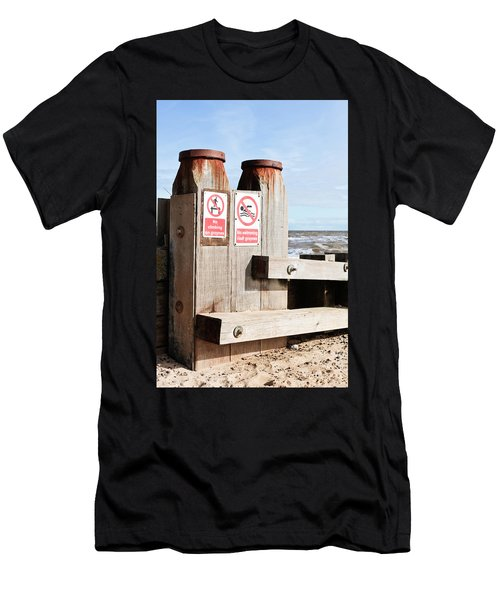 Beach Warning Men's T-Shirt (Athletic Fit)