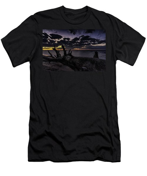 Beach Wood Men's T-Shirt (Athletic Fit)