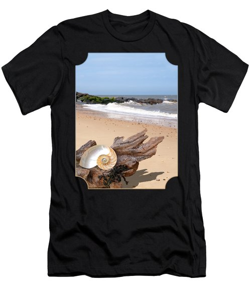 Beachcombing - Driftwood And Shells Men's T-Shirt (Athletic Fit)