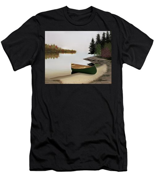 Beached Canoe In Muskoka Men's T-Shirt (Athletic Fit)