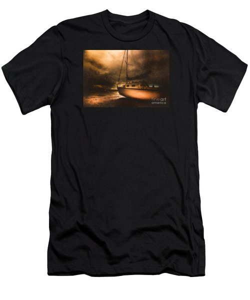 Men's T-Shirt (Athletic Fit) featuring the photograph Beached Sailing Boat by Jorgo Photography - Wall Art Gallery