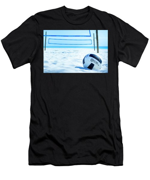 Volleyball On The Beach Men's T-Shirt (Athletic Fit)
