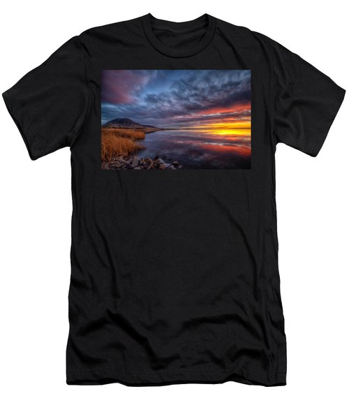 Bear Butte Lake Sunrise Men's T-Shirt (Athletic Fit)
