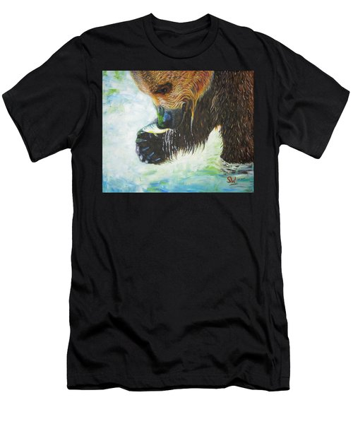 Bear Fishing Men's T-Shirt (Athletic Fit)
