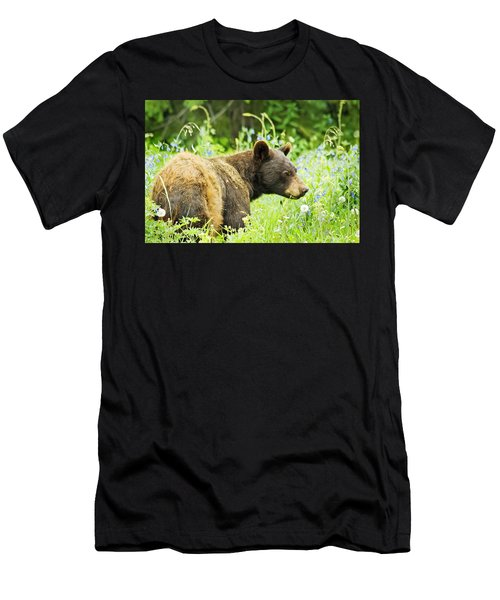 Bear In Flowers Men's T-Shirt (Athletic Fit)