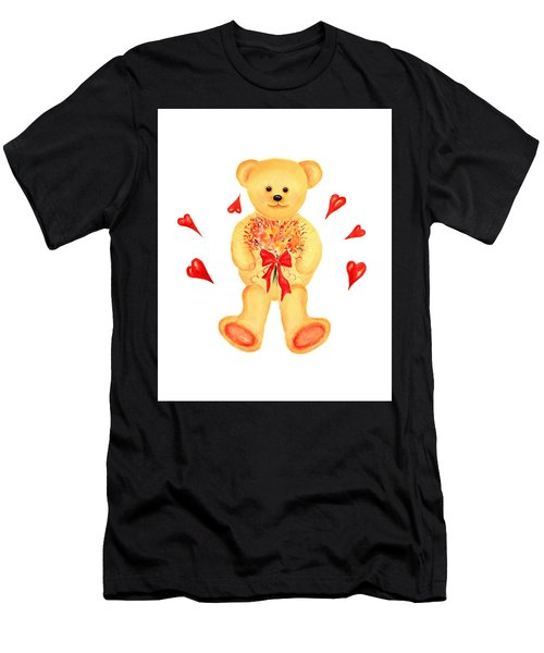 Bear In Love Men's T-Shirt (Athletic Fit)