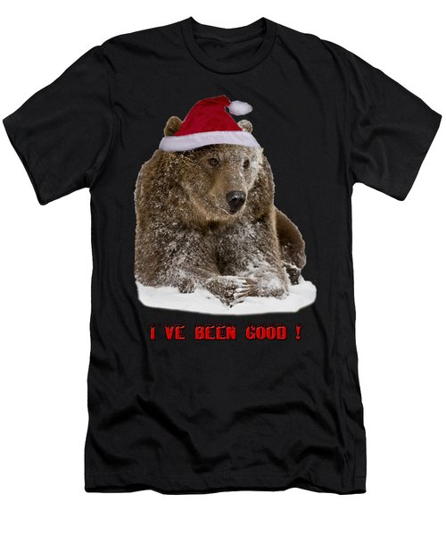 Bear Ive Been Good  Men's T-Shirt (Athletic Fit)