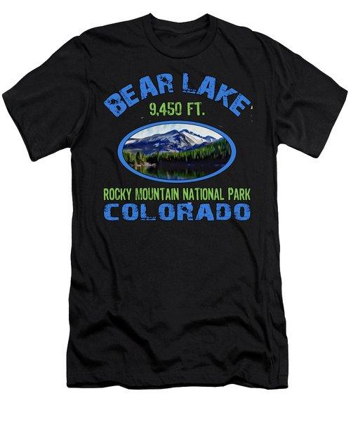 Bear Lake Rocky Mountain National Park Colorado Men's T-Shirt (Athletic Fit)