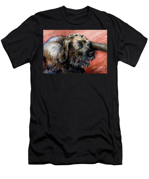 Men's T-Shirt (Slim Fit) featuring the painting Bear by Lora Serra