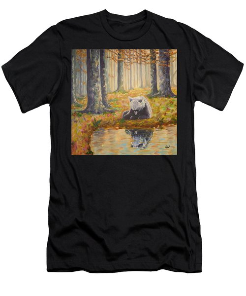 Bear Reflecting Men's T-Shirt (Athletic Fit)