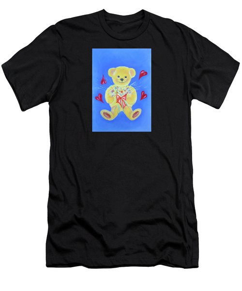 Bear With Flowers Men's T-Shirt (Athletic Fit)