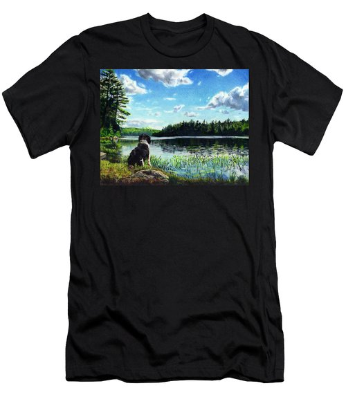 Beasley On Black Pond Men's T-Shirt (Athletic Fit)