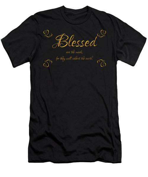 Beatitudes Blessed Are The Meek For They Will Inherit The Earth Men's T-Shirt (Athletic Fit)