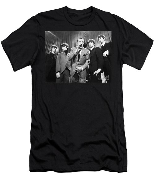 Beatles And Ed Sullivan Men's T-Shirt (Athletic Fit)