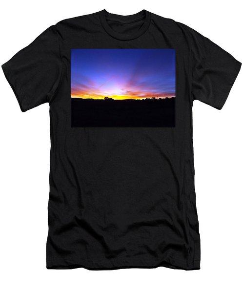 Beautifil Blue Men's T-Shirt (Athletic Fit)