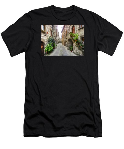 Beautiful Alleyway In The Historic Town Of Vitorchiano, Lazio, I Men's T-Shirt (Slim Fit) by JR Photography