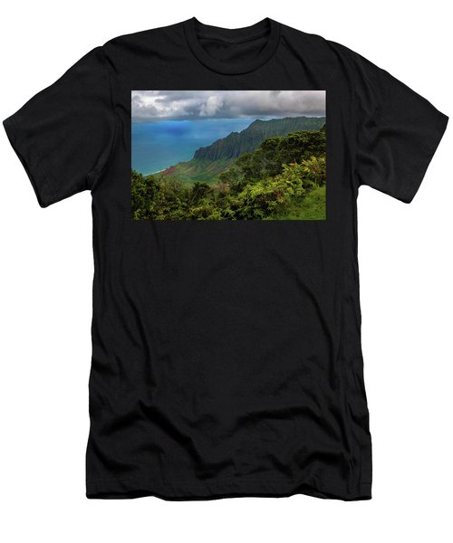 Men's T-Shirt (Athletic Fit) featuring the photograph Beautiful And Illusive Kalalau Valley by John Hight