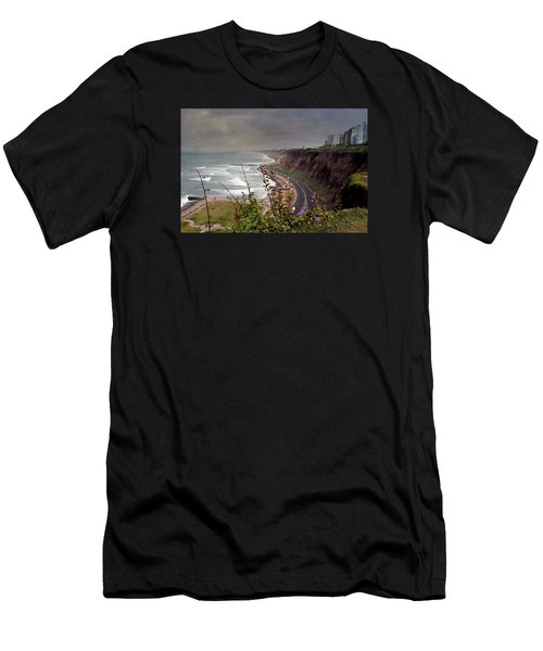 Beautiful Coastline Of Lima Men's T-Shirt (Athletic Fit)