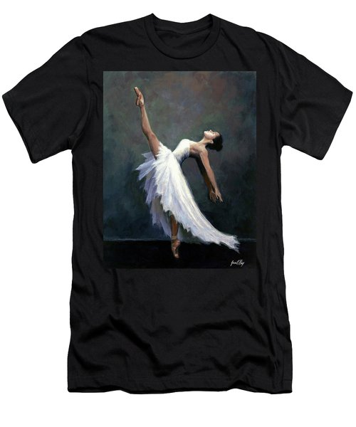 Men's T-Shirt (Slim Fit) featuring the painting Beautiful Dancer by Janet King