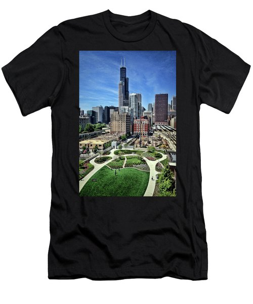 beautiful day and view of Chicago Men's T-Shirt (Athletic Fit)