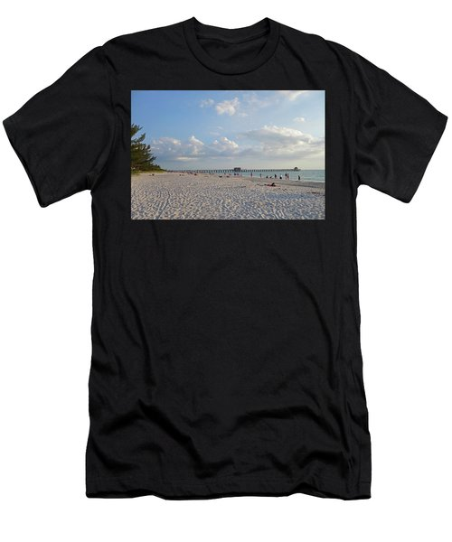 Beautiful Day On Naples Beach Naples Florida Men's T-Shirt (Athletic Fit)