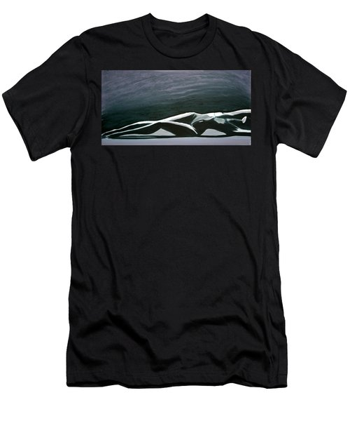 Men's T-Shirt (Slim Fit) featuring the painting Beautiful Diver by Jarmo Korhonen aka Jarko