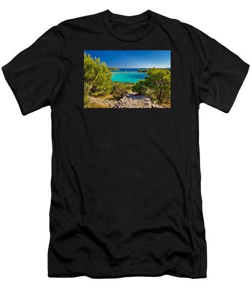 Beautiful Emerald Beach On Murter Island Men's T-Shirt (Athletic Fit)