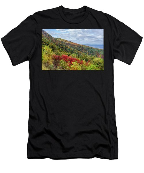 Men's T-Shirt (Athletic Fit) featuring the photograph Beautiful Fall Foliage In The Blue Ridge Mountains by Lori Coleman
