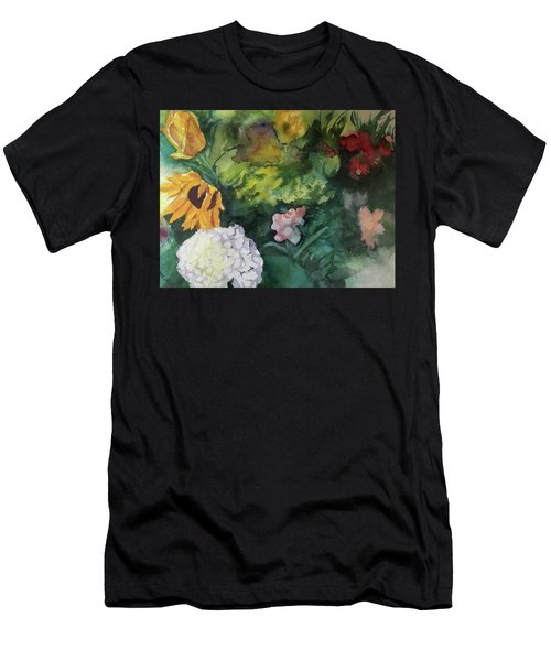 Beautiful Floral Jumble Men's T-Shirt (Athletic Fit)