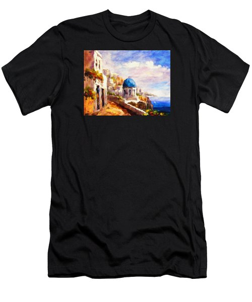 Beautiful Greece Men's T-Shirt (Athletic Fit)