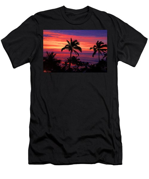 Beautiful Hawaiian Sunset Men's T-Shirt (Athletic Fit)