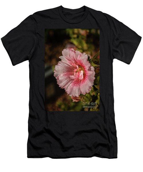 Beautiful Hollyhock Men's T-Shirt (Athletic Fit)